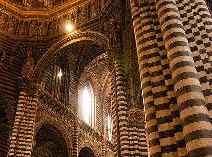 Siena Duomo, Tuscany, Italy Designed in part by Gothic master Nicola Pisano.
