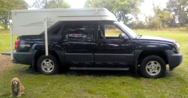 Chevy Avalanche Gets A Custom Camper Chevy Avalanche Avalanche Truck Custom Campers