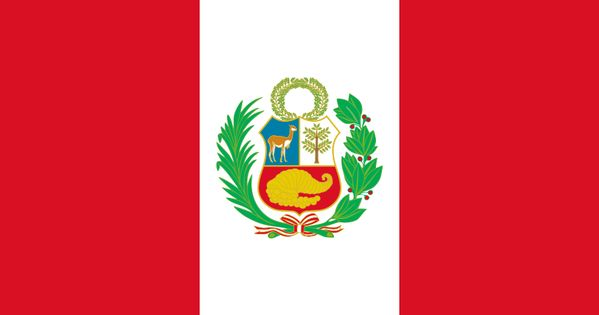 Republiek Peru Met Als Hoofdstad Lima Peruvian Flag Peru Flag Peru