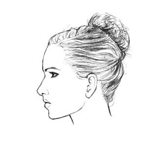 How To Draw A Female Face In Profile Drawings Art Profile Drawing