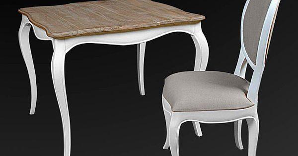 Mesa de comedor cuadrada vintage frances material madera for Comedores almacenes paris