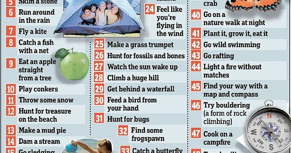 50 things to do with kids before they are 12 to encourage