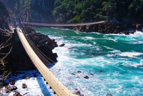 Storms River Suspension Bridges, South Africa. www.savisas.com SouthAfrica travel adventure