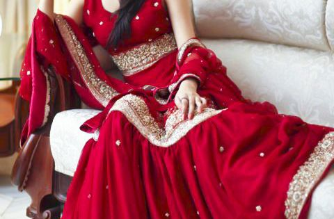 Indian bride wearing bridal lehenga and jewelry. IndianBridalHairstyle IndianBridalMakeup IndianBridalFashion Designed by