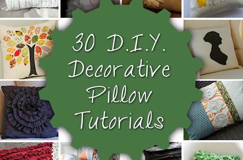30 diy decorative pillow tutorials.DIY Pillows, Decorative Pillows, Accent Pillows, Throw Pillows,