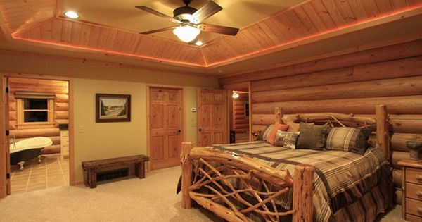 Log home bedroom adirondack style bed frame for the home pinterest Adirondack bed frame