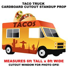 H1 Style Text Align Center Taco Truck Cardboard Cutout
