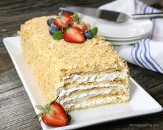 Easy Napoleon Cake Without Custard Cream And Step By Step Photos Recipe Napoleon Cake Pastry Desserts Napoleon Dessert