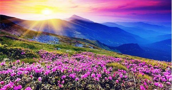 Soleil Montagne Berglandschap Abstracte Achtergronden Prachtige Landschappen
