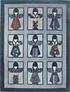 Japanese Girl Quilt Pattern Asian Quilt Pattern Kimono Quilt Japanese Kimono Pattern Uses Oriental Fabrics Kimono MYOMI Quilt Pattern