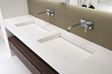 double vasque en corian dupont corian bath and bedrooms. Black Bedroom Furniture Sets. Home Design Ideas