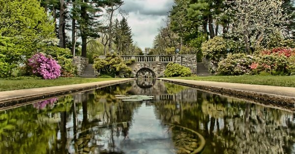 Reflections In The Garden Formal Garden With Reflecting