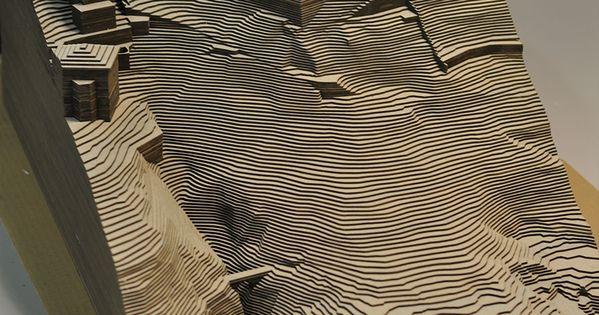 maquette d 39 architecture en carton gris mat riaux. Black Bedroom Furniture Sets. Home Design Ideas