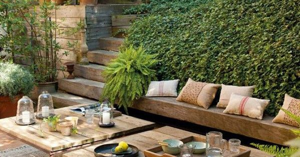 les plus belles terrasses de pinterest garden party pinterest bois brut pinterest et. Black Bedroom Furniture Sets. Home Design Ideas