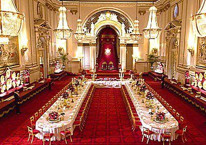 Royal Dining Room Palace Interior Buckingham Palace Royal Room