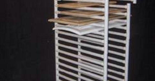 Cabinet door drying rack paint station pinterest - Drying rack for cabinet doors ...