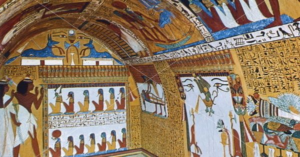 Wall paintings sennedjem 39 s tomb dayr al madinah egypt for Ancient egypt decoration