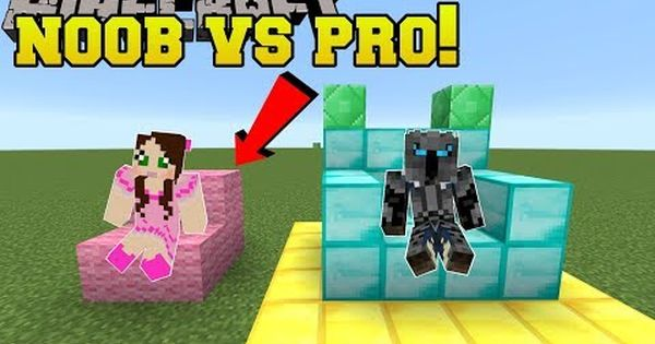 Minecraft Noob Vs Pro Build Battle Mini Game Youtube Mini Games Noob Minecraft