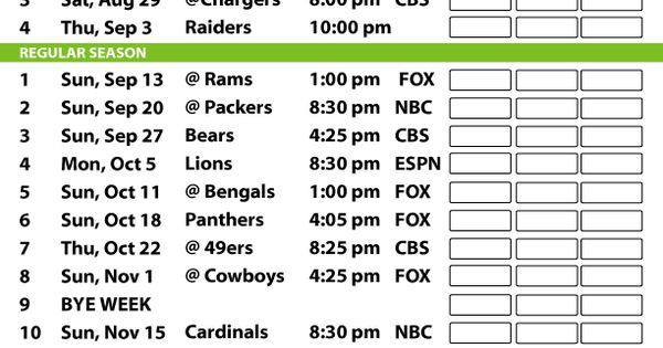 2015 Seahawks Printable Schedule Google Search
