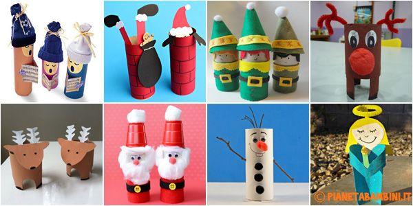 Lavoretti Di Natale Con La Carta Igienica.Tantissime Idee Per Realizzare Decorazioni E Lavoretti Di Natale Usando I Rotoli Di Carta Addobbi Per L Bambini Di Natale Bambini Artigianato Di Natale Natale
