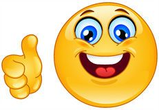 Ok Emoticon Royalty Free Stock Photography Smiley Face Images Smiley Thumbs Up Smiley