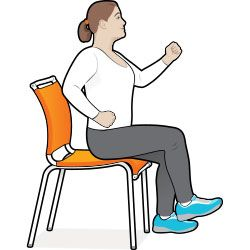 8 Exercise Moves You Can Do In Your Chair Diabetes Forecast Senior Fitness Workout Moves Chair Exercises