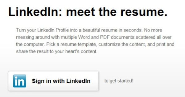 How To Convert Your LinkedIn Profile into a Fine Looking Resume - get resume from linkedin