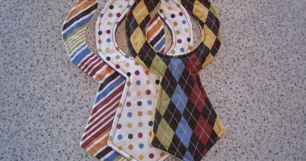 GREAT IDEA: Designer Baby Neck Tie Bibs (Set of 3)
