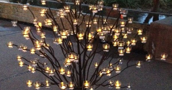 Trees, Metals and Candles on Pinterest