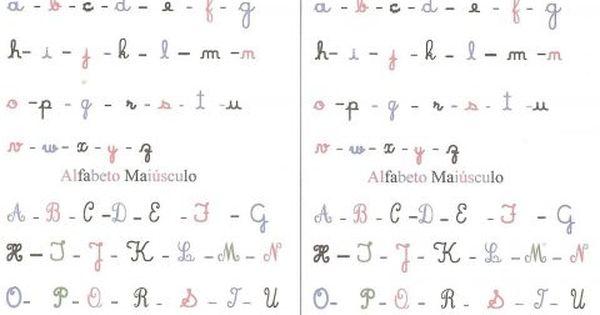 Actividades Para Aprender O Alfabeto Manuscrito With Images