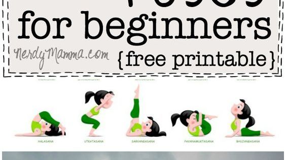 20 easy yoga poses for beginners with a free printable yoga poses yoga poses for beginners. Black Bedroom Furniture Sets. Home Design Ideas