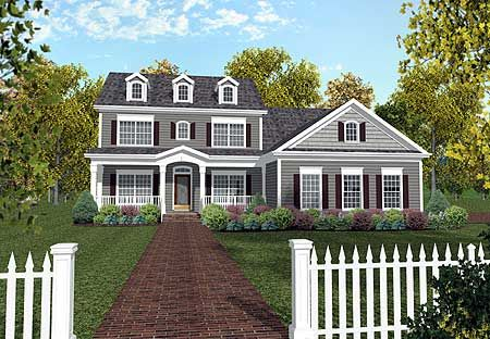 Plan 20029ga 5 Bed House Plan With Cozy Porch And In Law Suite Colonial House Plans Country Style House Plans Colonial House