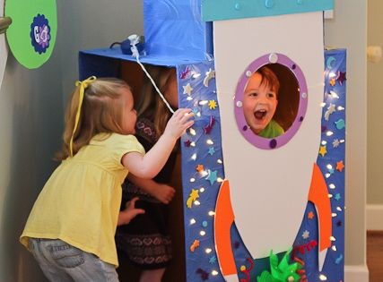 DIY Rocket Ship Photo Booth, birthday party ideas