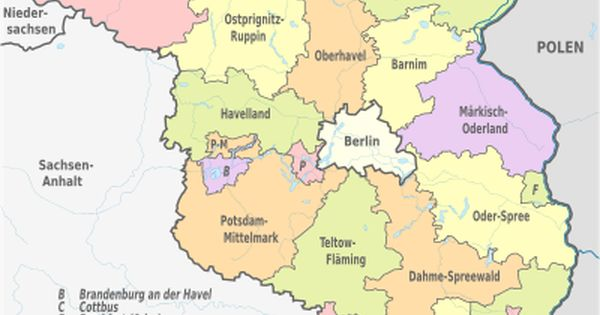 Brandenburg Wikipedia The Free Encyclopedia Administrative Division Brandenburg Map