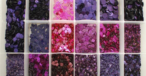 vintage sequins purple glitters
