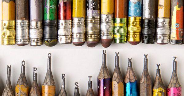 Pencil Tip Micro Sculptures / Dalton Ghetti — scultura daltonghetti matite punta