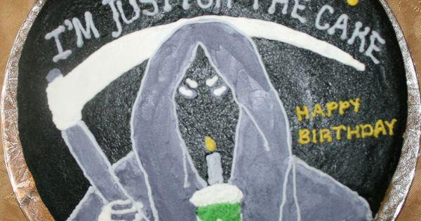 Grim Reaper Cake Randy S 50th Birthday Party Ideas