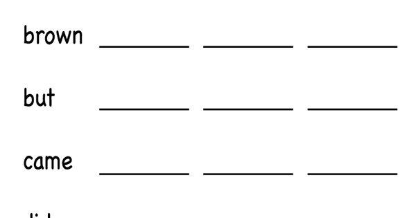 kindergarten spelling worksheet printable worksheets legacy pinterest spelling. Black Bedroom Furniture Sets. Home Design Ideas