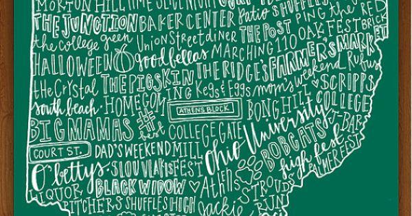Ohio university ohio map up for sale now! Allie Willis I know