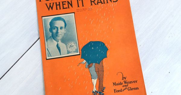 This vintage 1929 sheet music, u0026quot;I Get the Blues When It Rains,u0026quot; has a great cover and ukulele ...