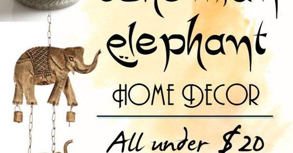 Affordable bohemian elephant home decor boho bohemian for Decoracion hogar hippie