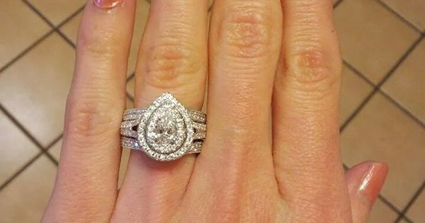 Yes This Is My Neil Lane Double Halo Pear Shaped E Ring