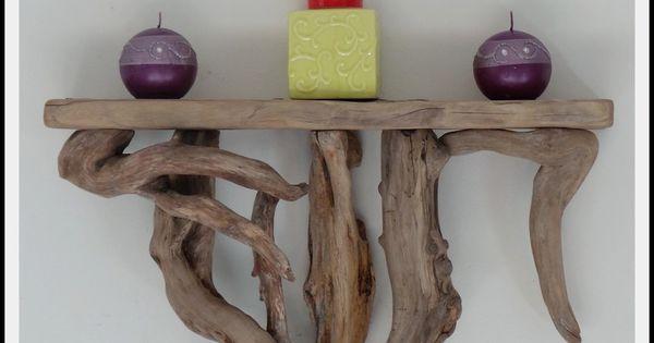 etagere en bois flotte piece originale et unique meubles et rangements par almero creations. Black Bedroom Furniture Sets. Home Design Ideas