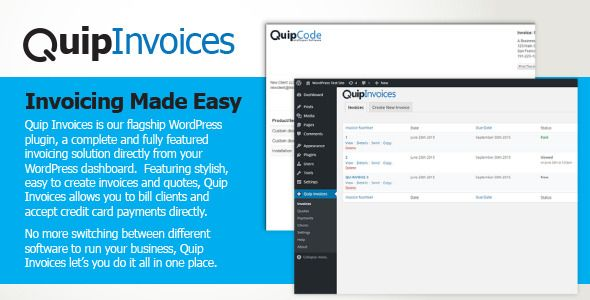 Download Free Quip Invoices - Fully Featured WordPress Invoicing - how to do invoices