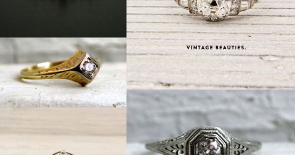 round up of engagement rings on etsy