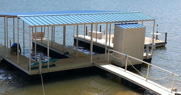 This Is A Completed Double Slip Boat Dock With Standard 10