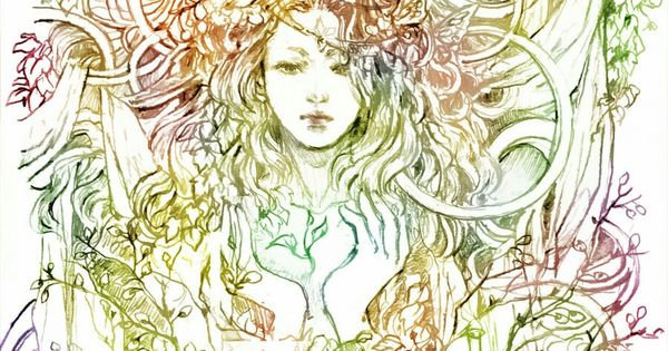 Mother Nature sketch | Tattoos that I love | Pinterest ...