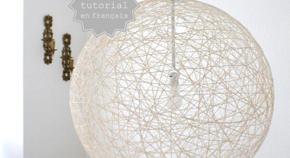 Diy de la laine pour une jolie lampe homemade laine for Luminaire homemade