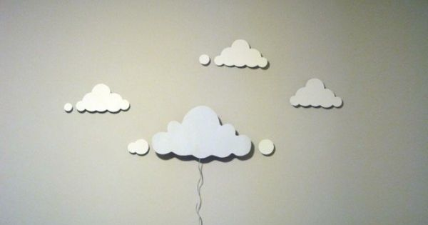 machen wolken lampenschirme selber wand lamper. Black Bedroom Furniture Sets. Home Design Ideas