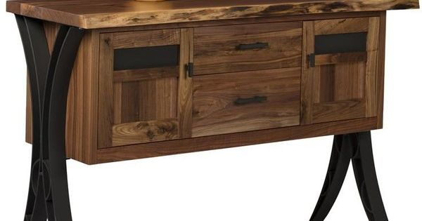 Amish buffets sideboards live edge server